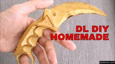 How to Make Wooden KARAMBIT from CS GO - CNC Plywood Prop