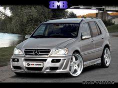 Mercedes ML163  Komplettvers Spoiler Set Body Kit Tuning Umbau neu Verbau