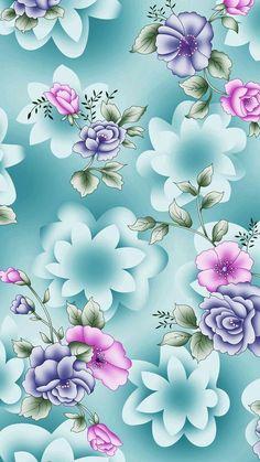 Flower Background Print On Cabvas - Canvas Wall Decor Trendy Wallpaper, Pretty Wallpapers, Flower Backgrounds, Wallpaper Backgrounds, Wallpaper Ideas, Cellphone Wallpaper, Iphone Wallpaper, Canvas Wall Decor, Butterfly Wallpaper