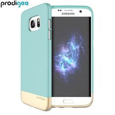 Prodigee Accent Samsung Galaxy S7 Edge Case - Aqua / Gold - Slim-fitting, colourful accents and 2 piece construction for your Samsung Galaxy S7 Edge, whilst keeping it well protected. The aqua and gold Accent case from Prodigee is Slim, light and incredibly attractive.