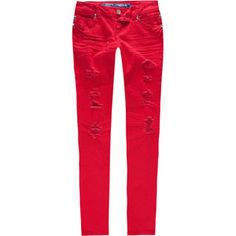 ALMOST FAMOUS Destructed Womens Skinny Jeans