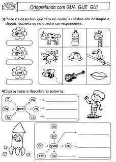 "Atividades Dificuldades Ortográficas e Letramento ~ ""Atividades Escolares"""