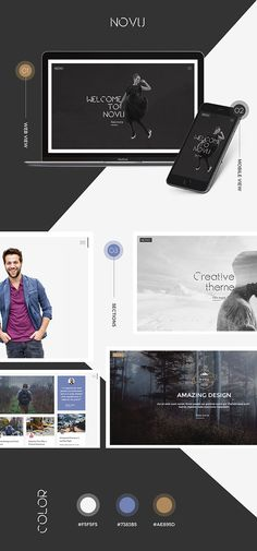 Reviews       Novu – Modern & Creative HTML Template. Novu is clean and modern template suited for various use one page website for your portfolio and business use.  Novu Contains great featu...