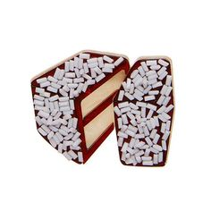 Rumour has it he wasn't exactly a fan of these coconut covered confectioneries. Lamington Brooch, Brown and White. Erstwilder i Fantastic Fox, Quirky Gifts, Confectionery, Flower Necklace, Brooch Pin, Fashion Accessories, Coconut, Lord, Jewels