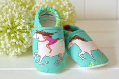 horse baby shoes wee little piggies baby by TheWeeLittlePiggies