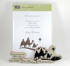 Stampin Up Come to Bethlehem Christmas Clear Mount Stamp Set PRE OWNED #StampinUp