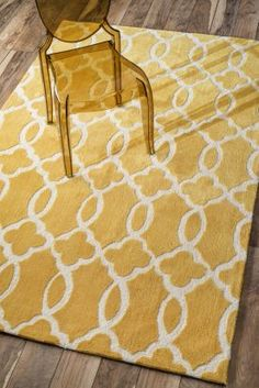 $5 Off when you share! Radiante NL01 Trellis Mustard Rug #RugsUSA