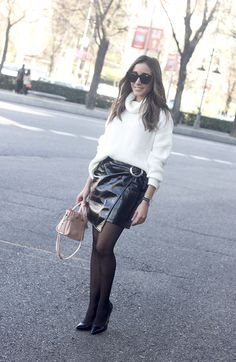 Black Patent Leather Skirt | BeSugarandSpice - Fashion Blog
