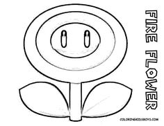 super mario bros coloring pages - Free Large Images Minion Coloring Pages, Flower Coloring Pages, Colouring Pages, Free Coloring, Coloring Books, Super Mario And Luigi, Super Mario Art, Mario Kart, Super Mario Coloring Pages