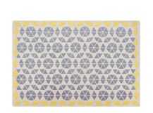 Trio Teppich 160 x 230 cm, Grau und Senfgelb