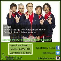 """Ticket """" ELIO E LE STORIE TESE """" info line: 068841342 www.ticketplease.it mail: info@ticketplease.it La nostra sede: via Viterbo n.6, Roma. Spediamo in tutta Italia con Bartolini. il Piccoli Energumeni Tour. Le date: 29 aprile Assago (Mi), Mediolanum Forum 7 maggio Roma, Palalottomatica #tour #teatro #spettacolo #musica #elioelestorietese @eelst"""