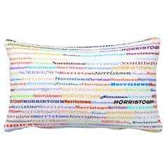 Norristown Text Design II Lumbar Pillow