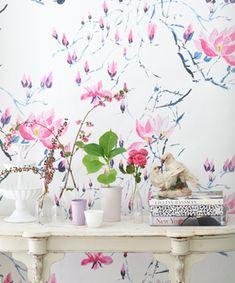 Designer's Guild. I love the wallpaper for the powder room