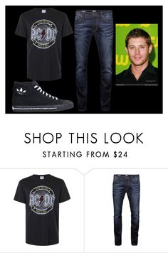 """""""AC/DC"""" by springqueen1-hello on Polyvore featuring Topman, Jack & Jones, adidas, men's fashion and menswear"""