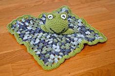Crocheted Frog Security Blanket Baby Blanket Baby Toy