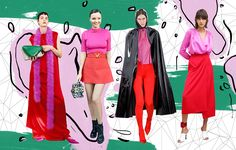 Color trend: how to wear red and pink together