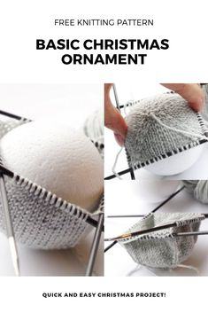 Knitting pattern for basic Christmas ball ornament There's something special in knitted Christmas ornaments. This free basic Christmas ball ornament pattern is perfect now. Knitted Christmas Decorations, Knit Christmas Ornaments, Ball Ornaments, Christmas Gifts, Xmas, Christmas Wrapping, Christmas Knitting Patterns, Knitting Patterns Free, Knit Patterns