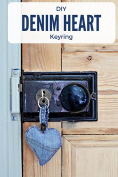 Use your jeans scraps to make the sweet padded denim hearts keyring.  It would make a cute valentine's gift.