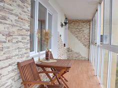 большая лоджия дизайн - Поиск в Google Interior Balcony, Balcony Design, Interior And Exterior, Interior Design, Balcony Ideas, House Design, Patio, Windows, Outdoor Decor