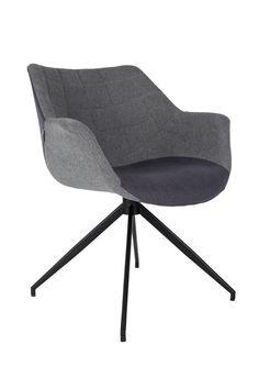 Lounge Sessel Esszimmerstuhl Doulton Grey von Zuiver
