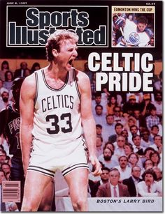 Sports Illustrated: Larry Bird of the Boston Celtics Celtics Basketball, Basketball Legends, Basketball Players, Basketball History, Pro Basketball, Basketball Pictures, Larry Bird, Boston Celtics, Si Cover