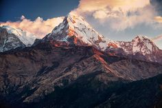 Superb Nature - Sunrise, Poon Hill, Annapurna, Nepal by CamelKW. Landscape Photography, Nature Photography, Travel Photography, Beautiful Places To Travel, Beautiful World, Real Nature, Nature Pictures, Beautiful Pictures, Travel Posters