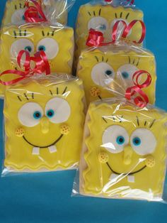 SpongeBob Cookies by CakesUniqueByAmy.com, via Flickr