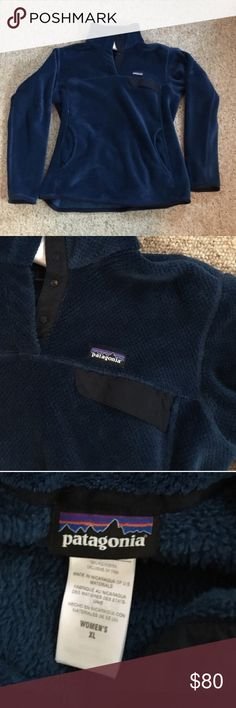 Patagonia Fleece Women's XL Awesome shape. I love this so much and hope the next person will too!!! It's a beautiful blue. Super warm and cozy. I was gifted two of these. Patagonia Tops Sweatshirts & Hoodies