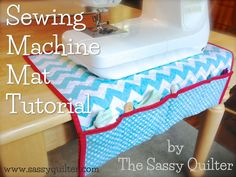 Sewing Machine Mat Tutorial + Giveaway: Riley Blake Designs double-faced Quilted Cotton Blog Tour #rileyblakedesigns #quiltedcotton #chevron #tutorial