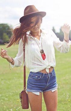 Shop this look on Kaleidoscope (shirt, necklace, shorts, hat, purse)  http://kalei.do/WCfHu9uXQpcsUlfu