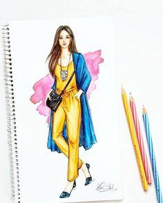Super ideas for fashion ilustration coat outfit Dress Design Drawing, Dress Design Sketches, Fashion Design Sketchbook, Fashion Design Drawings, Vintage Fashion Sketches, Fashion Model Drawing, Fashion Drawing Dresses, Fashion Dresses, Dress Illustration