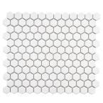 Merola Tile Metro Hex Glossy White 10-1/4 in. x 11-3/4 in. x 5 mm Porcelain Mosaic Floor and Wall Tile (8.54 sq. ft. / case) FXLMHW at The Home Depot - Mobile