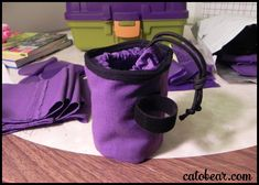 This is the how-to description for how I made dog bait bags (treat bags you wear on your belt loop, used to train dogs) for the Humane Society.