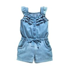 Girls Jeans Overall