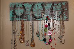 Minus the necklaces for art in the dining room! Going to the stables this weekend to ask my Pa for old horseshoes!