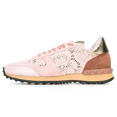 5bc20549a1f  Valentino  Womens  Rockrunner  Sneaker with  Lace -