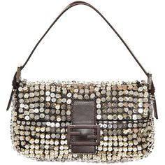 FENDI Baguette Shiny Sequins Shoulder Bag (€2.630) ❤ liked on Polyvore featuring bags, handbags, shoulder bags, borse, multi, fendi, fendi purses, fendi handbags, sequin purse and sequin shoulder bag