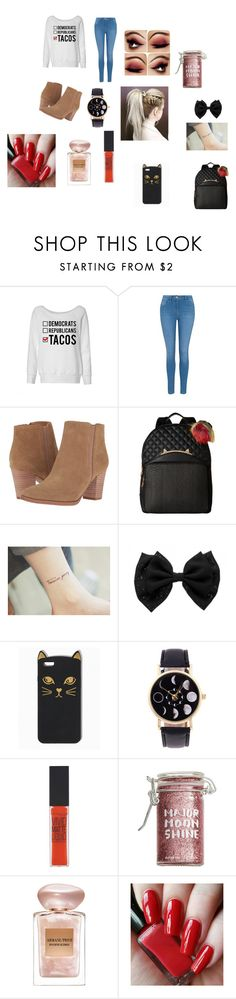 """""""Election day!!"""" by ivieoww on Polyvore featuring George, Franco Sarto, Betsey Johnson, Maybelline, Major Moonshine and Giorgio Armani"""