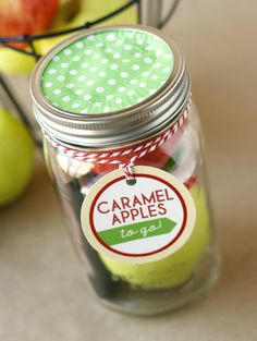 Caramel Apple Gift in a Jar by My Sisters Suitcase | Skip To My Lou