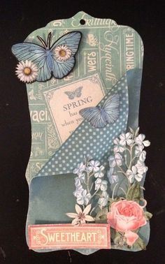 How to make tag pockets on and for tags using Time to Flourish collection from Graphic 45. By Anne Rostad