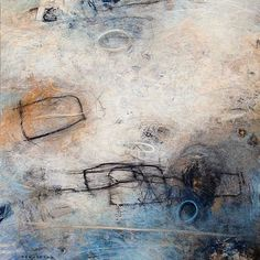 TANGLED UP AND BLUE Michael den Hertog, mixed media on canvas, 24 x 24 inches