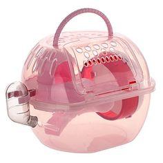 Cage Maison + Roue Exercice en Plastique Jouet pour Hamster Chinchilla Rongeur