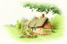 Anne Hathaway's Cottage - John Clayton Scenes Cross Stitch Kit from Heritage Crafts Counted Cross Stitch Kits, Cross Stitch Charts, Cross Stitch Patterns, Cute Embroidery, Cross Stitch Embroidery, Anne Hathaway's Cottage, John Clayton, Heritage Crafts, Tapestry Kits