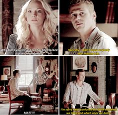 "Get it straight, Matty Blue Blue! :) - ""The Vampire Diaries"" - Caroline (Candice Accola) and Matt (Zach Roerig)"