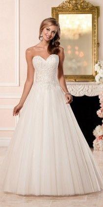 Stella York A-line Wedding Dress with Princess Cut Neckline style 6357