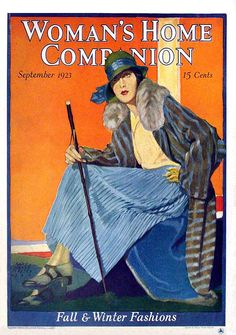 The September 1923 cover of Woman's Home Companion magazin. #vintage #beautiful #1920s #twenties #flapper #magazine #cover