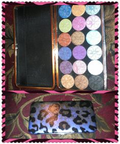 Diy eyeshadow palette made from wallet!