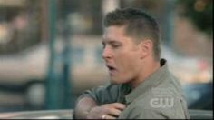 """I don't care if you watch Supernatural or not...Jensen Ackles lip-singing to """"Eye of the Tiger"""" is awesome...this song will always make me laugh from now on"""