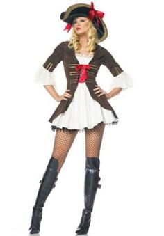 Hot Sale Cheap Pirate Costumes For Ladies 2013 Women Deluxe Halloween Cosplay Carnival Dress Wholesale Reatil Burlesque Halloween Costumes, Sexy Pirate Costume, Halloween Cosplay, Pirate Costumes, Western Costumes, Halloween Mode, Halloween Fashion, Halloween Outfits, Halloween Clothes