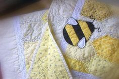 Bumble Bee Baby Quilt via Etsy